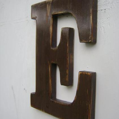wall sign rustic wooden letters dec