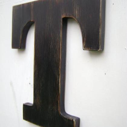 wood letter rustic wall hanging ini