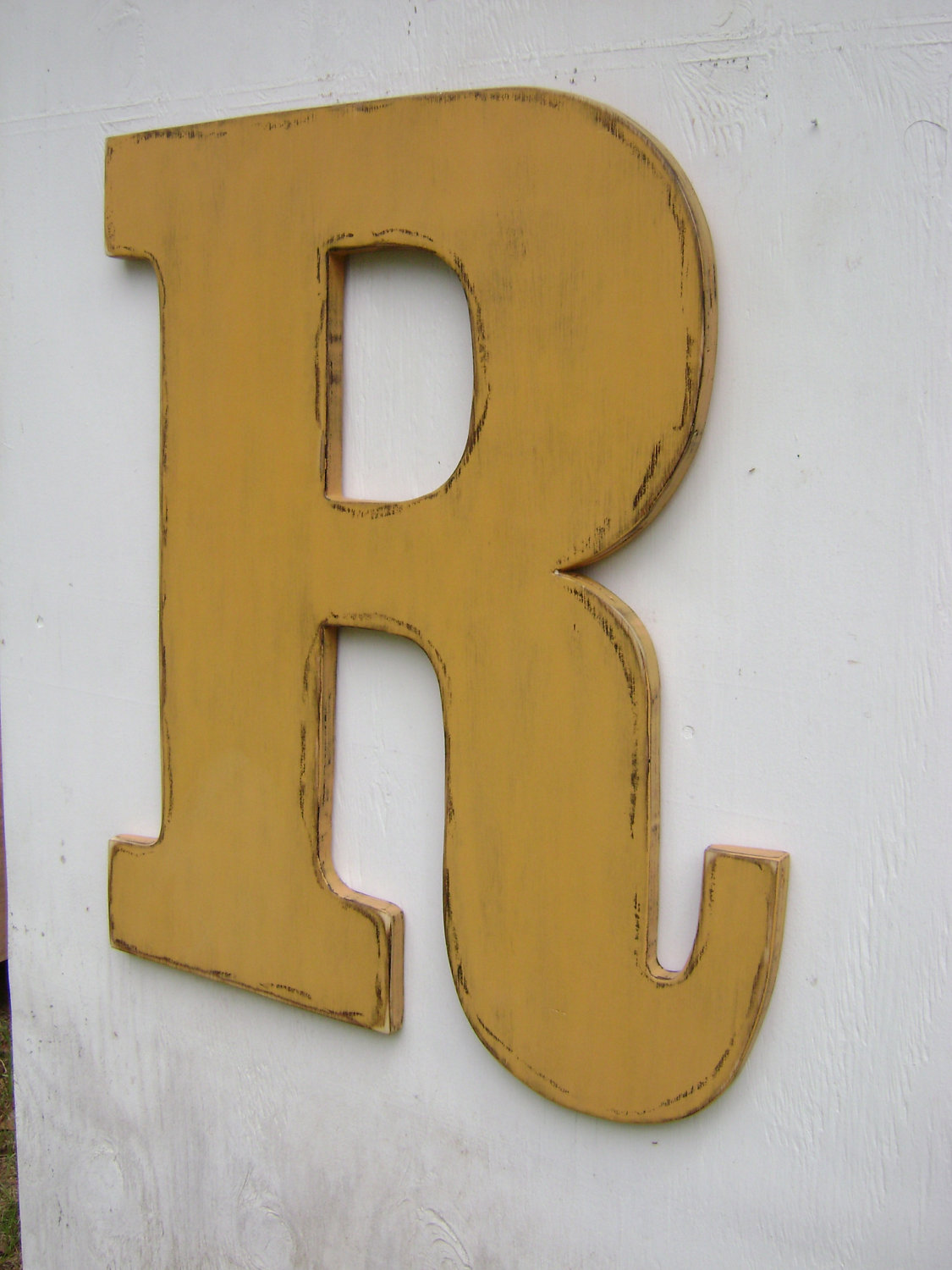 wedding quest book letter decor rustic wooden letter r big 24 inches