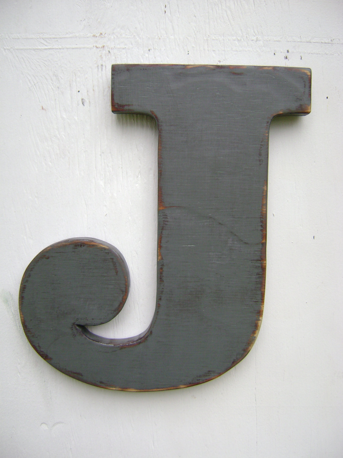shabby chic big wooden letters rustic decoration room decor letter j